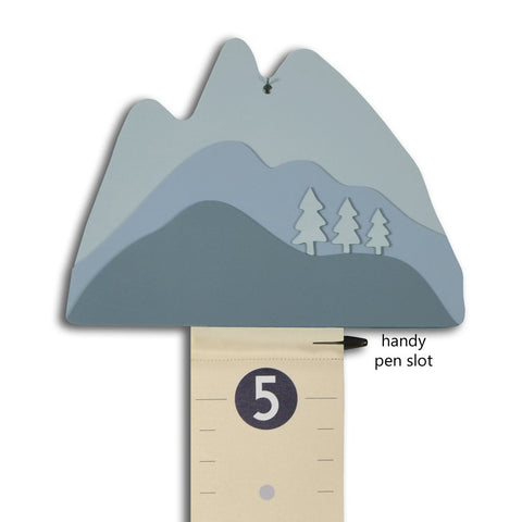 Mountain Growth Chart in Blue
