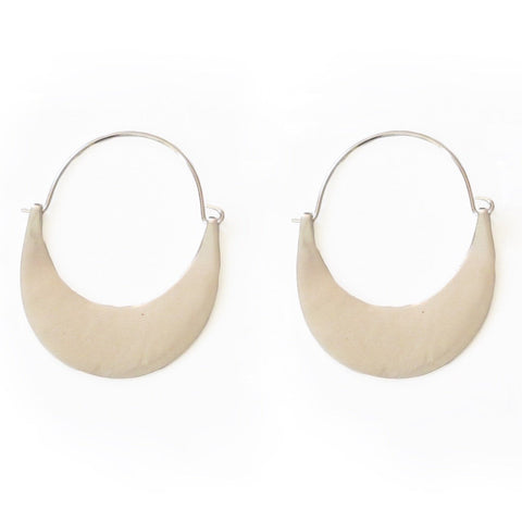 Plains Silver Hoop Earrings