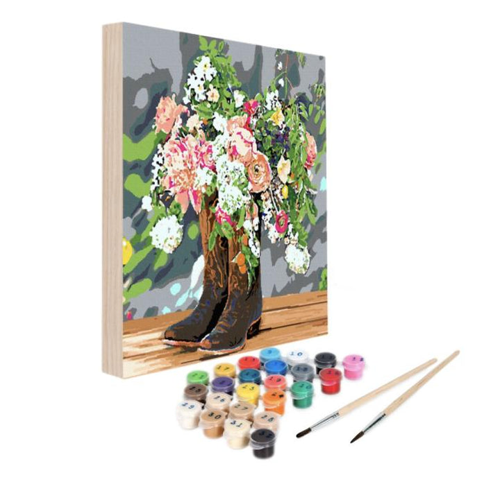 Paint By Numbers Kit - Blooming Boots