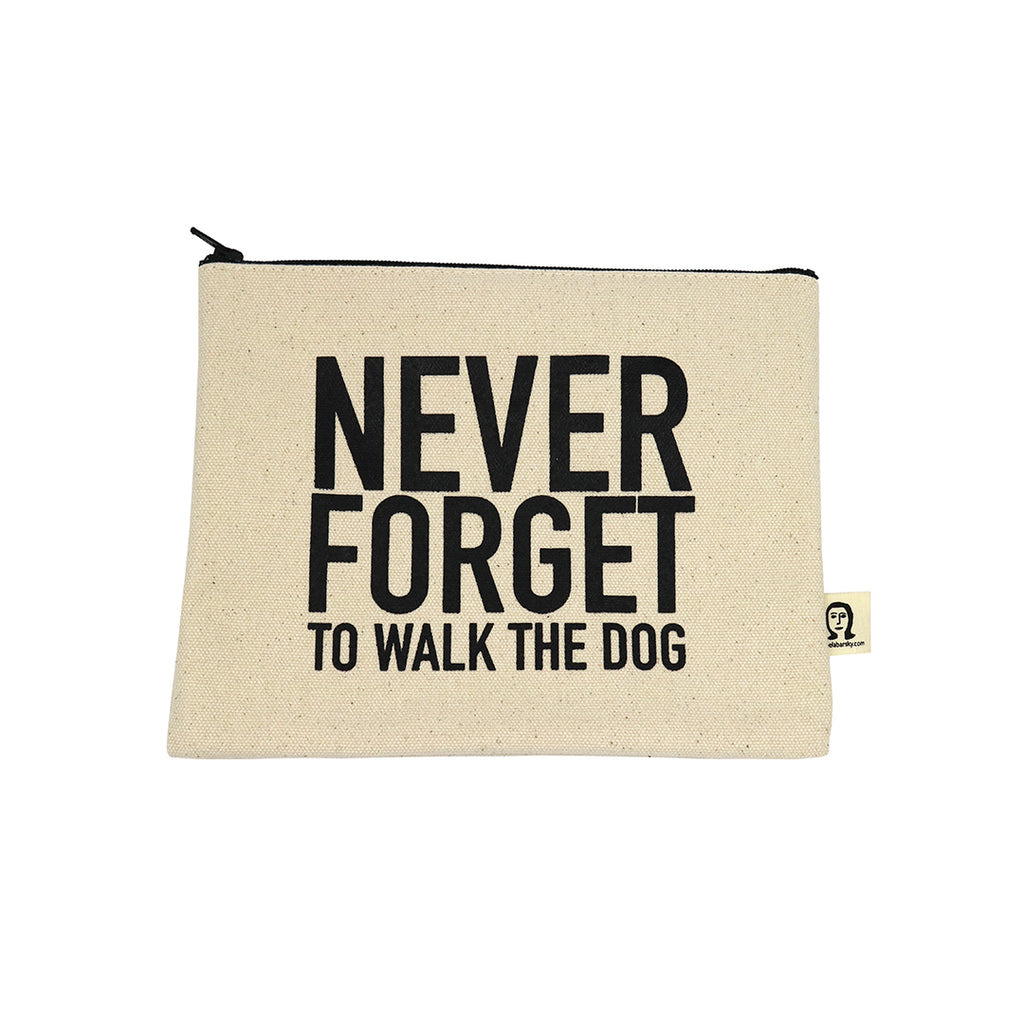 Walk the Dog Canvas Pouch