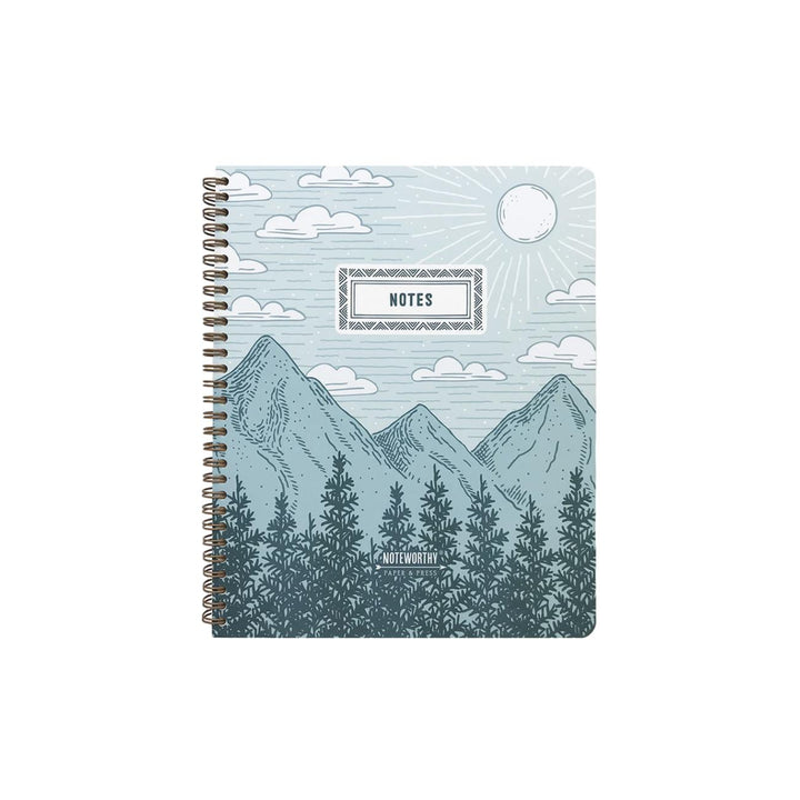 Mountains & Pines Lined Notebook