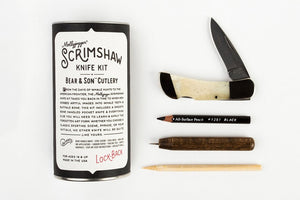 Bear & Son Lockback Knife and Scrimshaw Kit