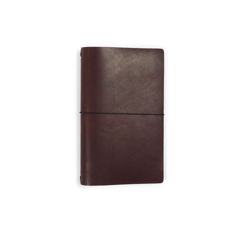 Leather Dot Grid Notebook in Burgundy