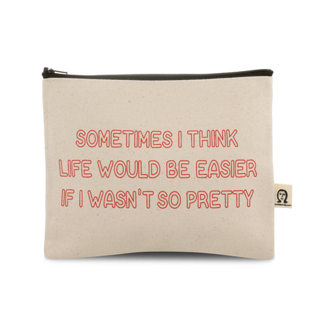 Life Would Be Easier Canvas Pouch
