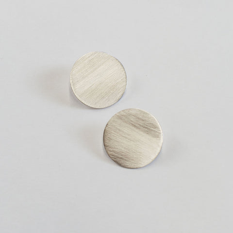 Numa Circle Studs in Sterling Silver