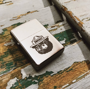 Smokey Bear Engraved Zippo Lighter