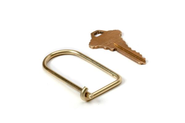 Brass D-Loop Key Ring