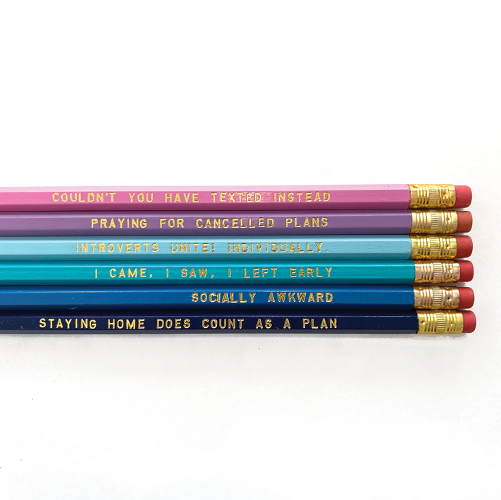 Introvert Pencil Pack of 6