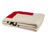 Reversible Swiss Cross Cotton Throw