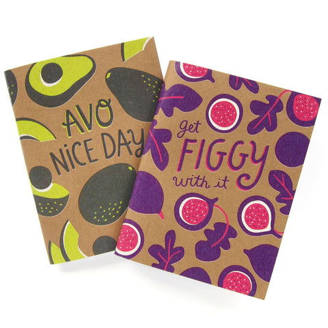 Figgy and Avocado Notebook Set