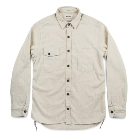 The Utility Shirt in Cone Mills Corded Natural