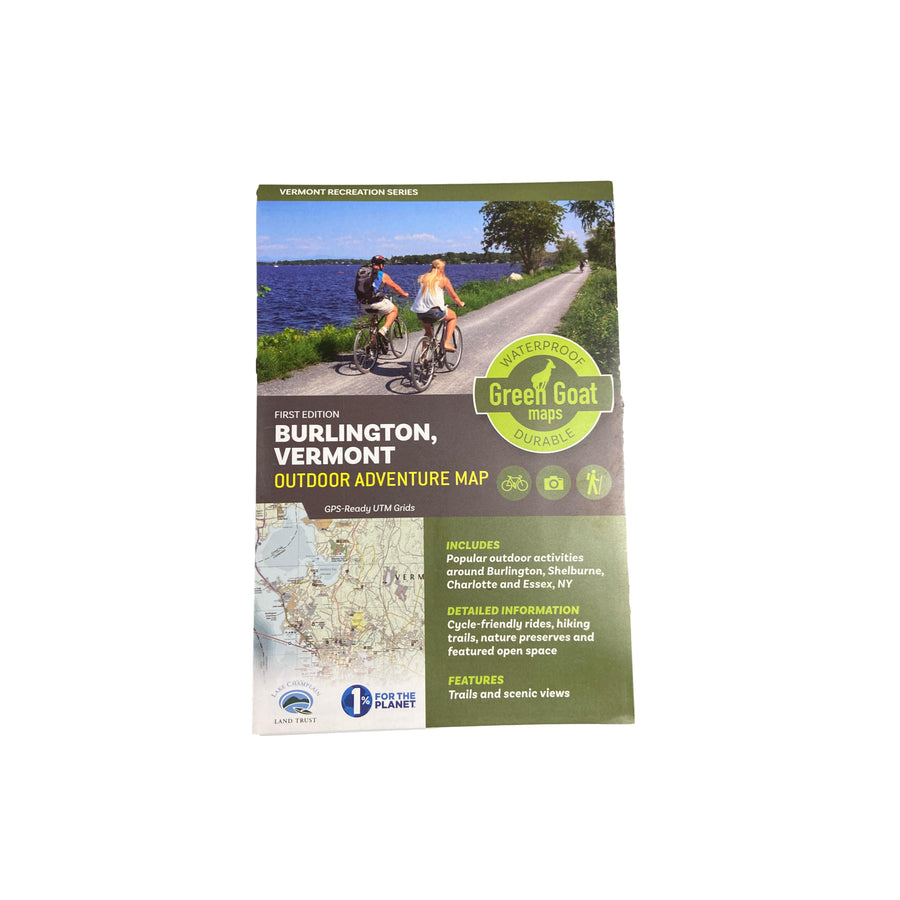 Burlington VT Outdoor Adventure Recreation Map