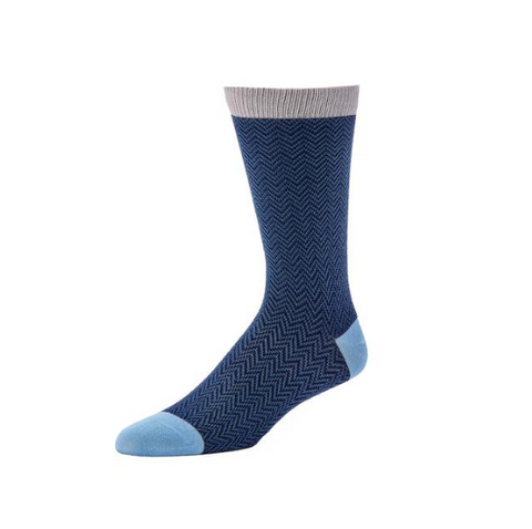 Men's Textured Herringbone Crew Socks