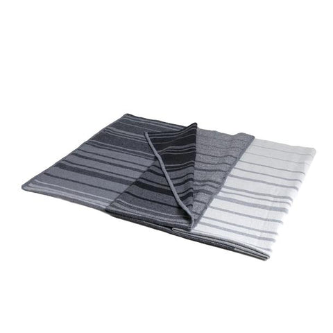 Woven Eco-Throw - Tri-Panel Grey