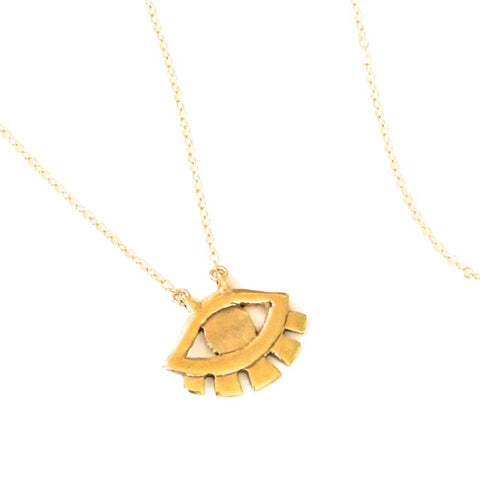 Brass Ojo Necklace