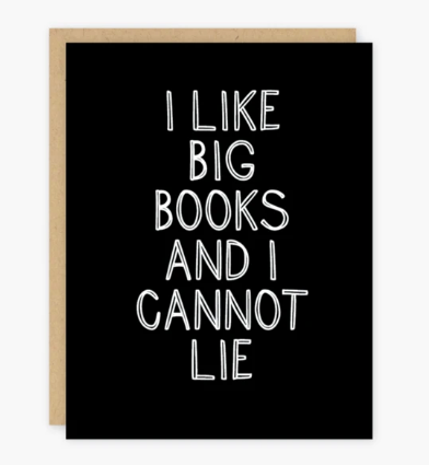 I Like Big Books Card - PO2
