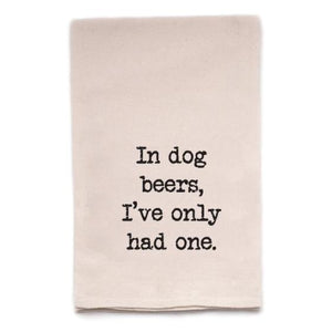 In Dog Years Tea Towel
