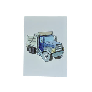 Lydia Ode Blue Dump Truck Greeting Card