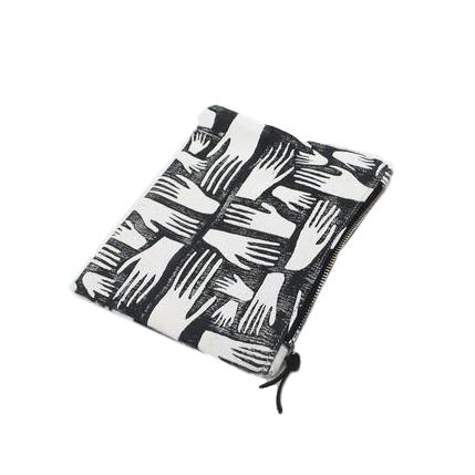 Block Print Canvas Pouch
