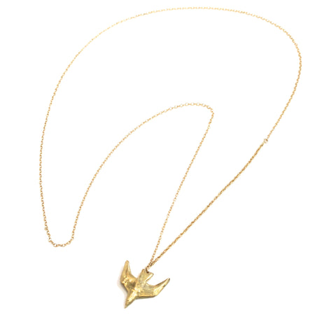 Brass Paloma Necklace