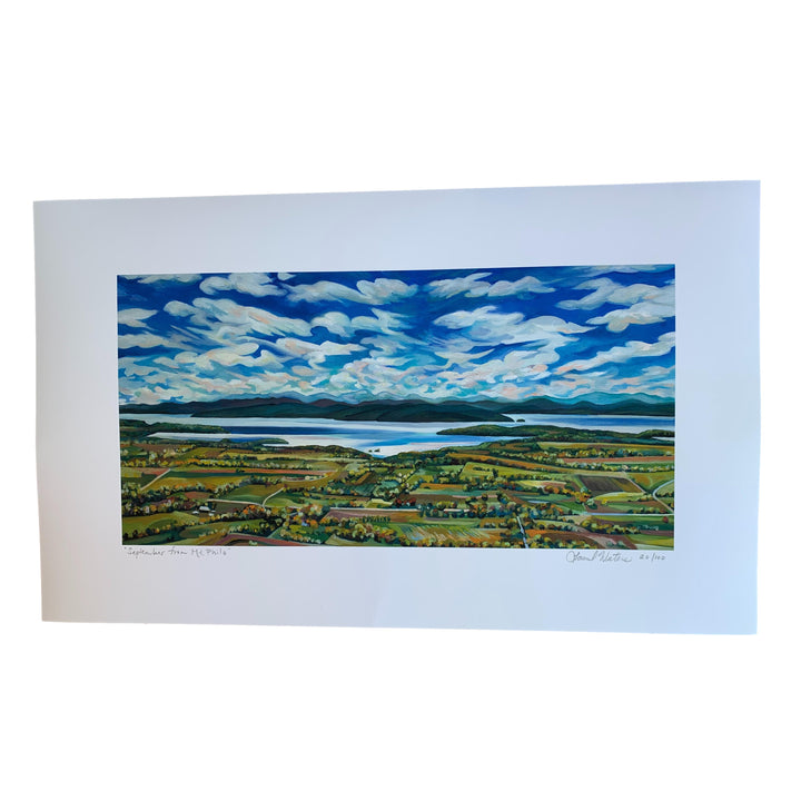 September from Mt. Philo Print - 12 x 20