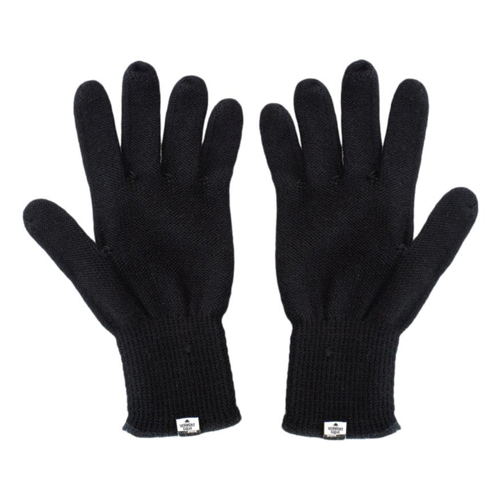 Black Merino Wool Glove Liner