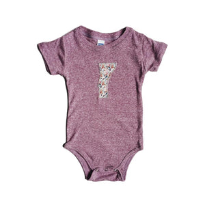 Vermont Mountains Baby Onesie Floral Purple