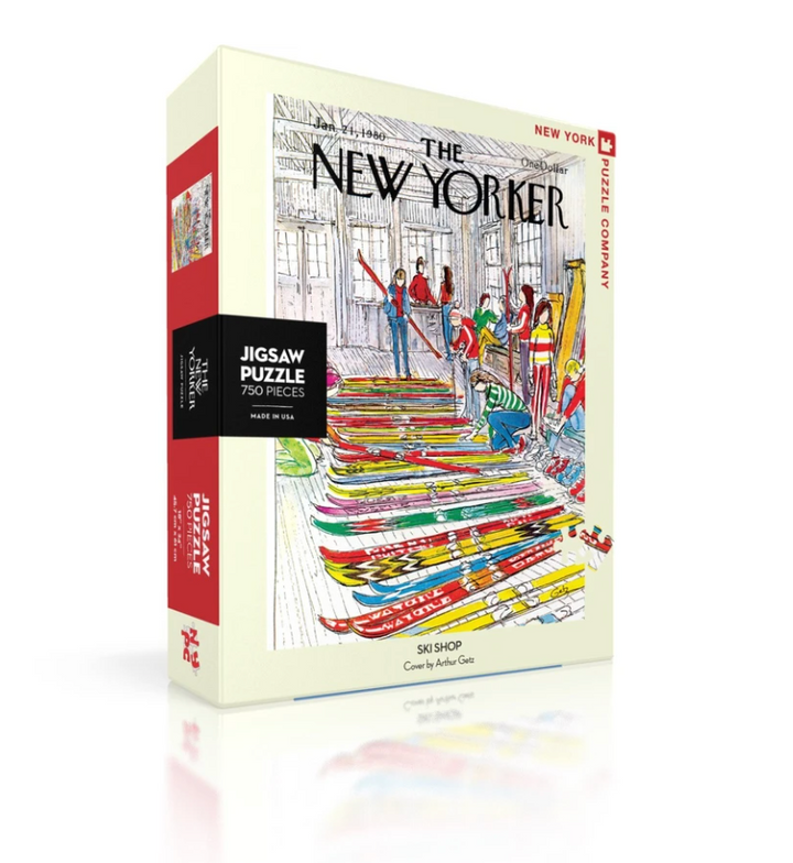 New Yorker Cover Ski Shop 750 Piece Puzzle