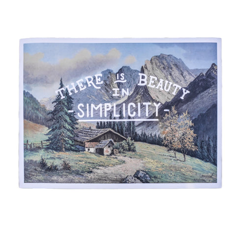"""There is Beauty in Simplicity"" Print"