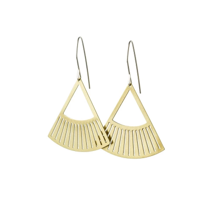 Salta Earrings - Brass
