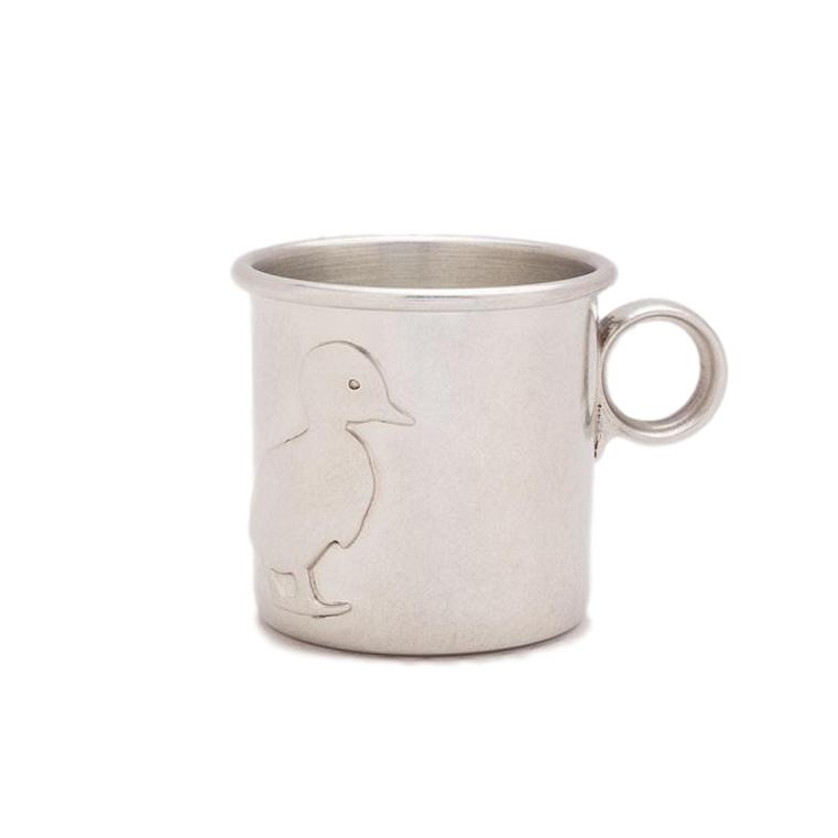 Pewter Baby Cup - Duck