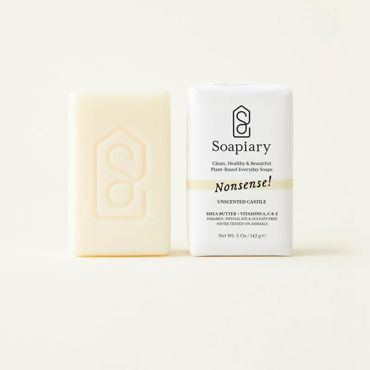 Soapiary Bar Soap Nonsense! Unscented Castile Soap