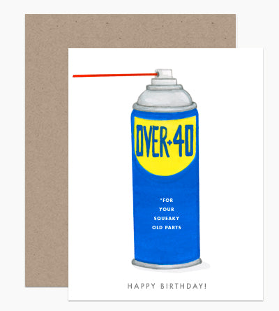 Over 40 Squeaky Parts Birthday Card - DH5
