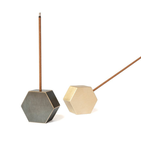 Hex Incense Burner Brass