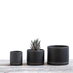 Round Planter - Charcoal