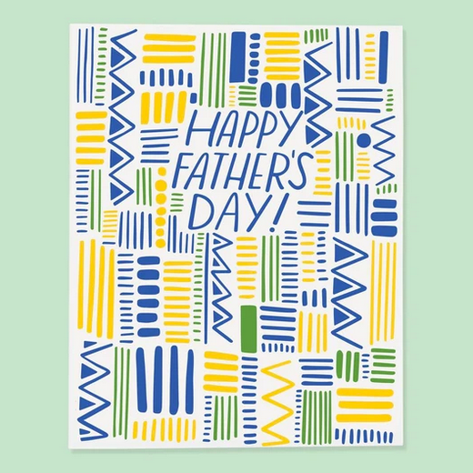 Happy Father's Day Yellow and Green Pattern Card - GT7