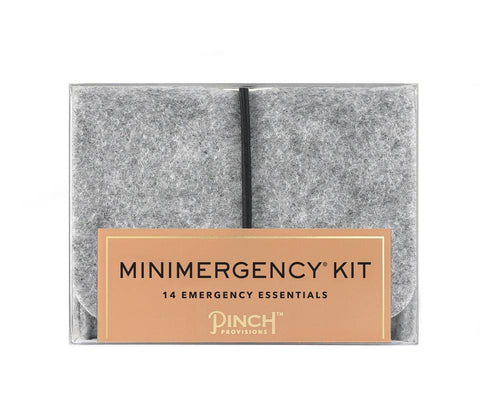 Minimergency Kit in Unisex Grey Felt