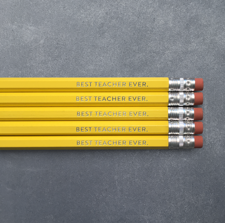 Pencil Pack of 5 - Best Teacher Ever