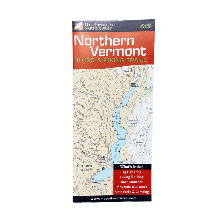 Northern Vermont Hiking & Biking Map