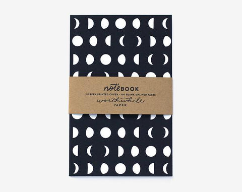 Moon Pattern Notebook