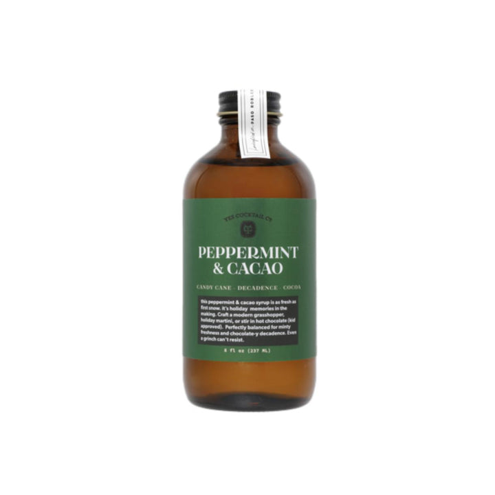 Peppermint & Cacao Cocktail Syrup - 8oz