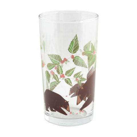 Harper + Oldham Bear and Flowers Glass