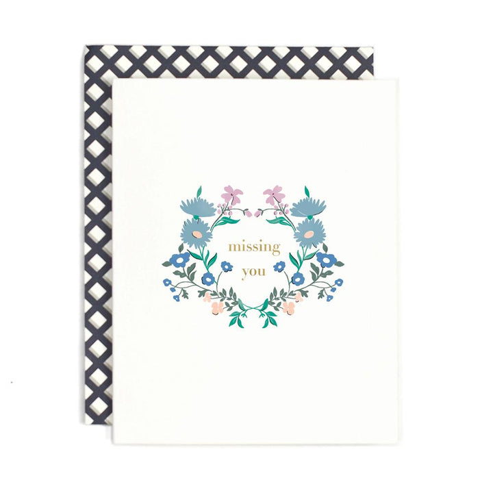 Missing You Floral Card - AH3