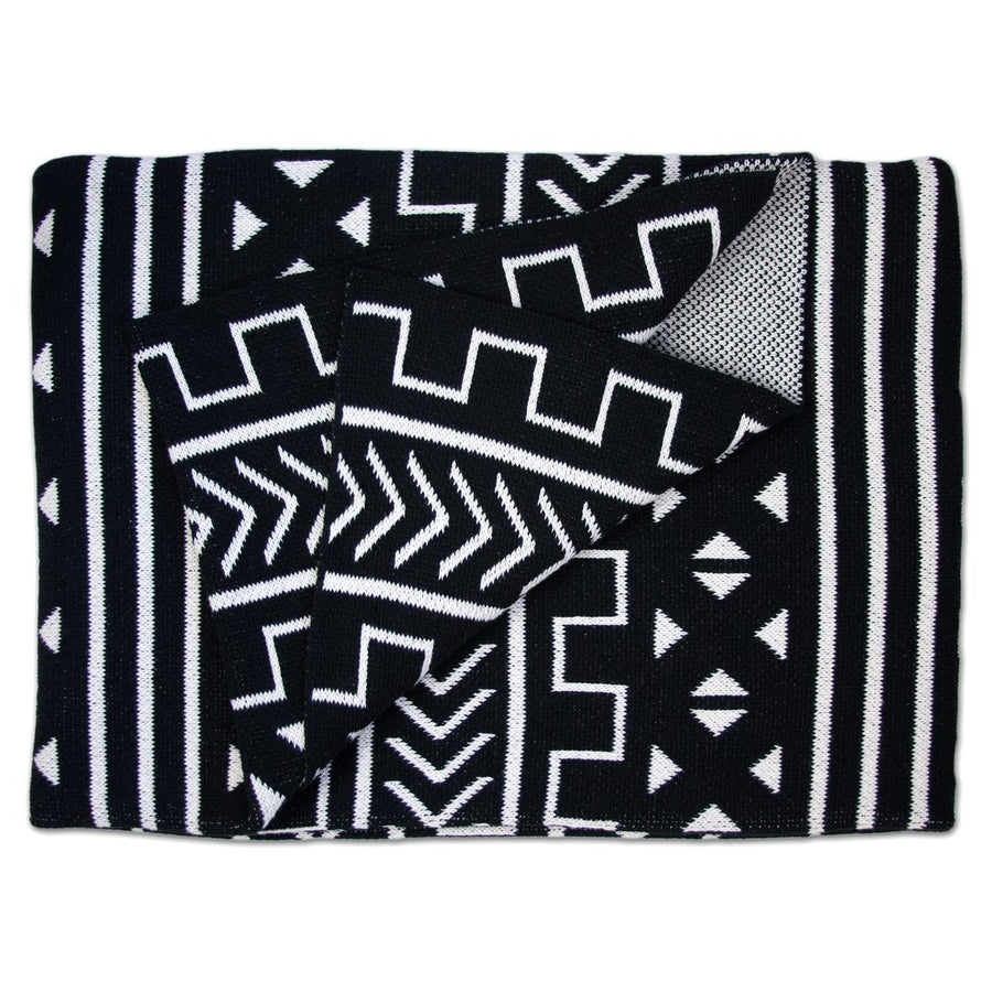Mali Throw Blanket - Black