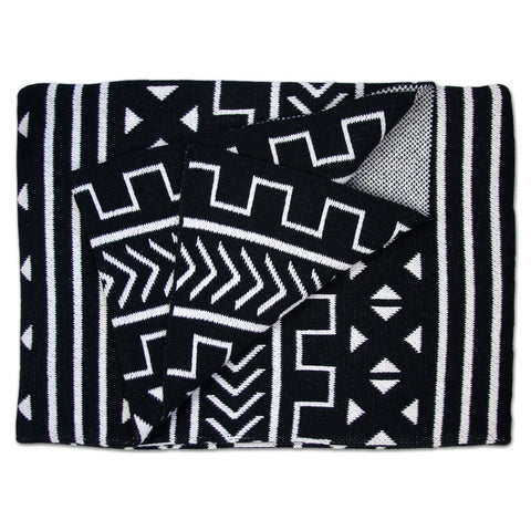 Mali Throw Blanket Black