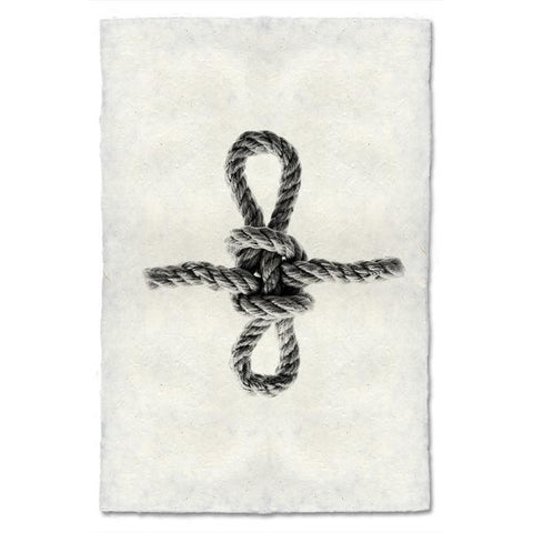 Archival Handmade Paper Sheepshank Knot Print