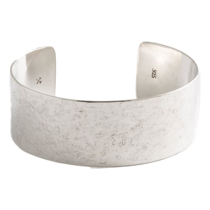 Polished Silver Broad 1 inch Cuff - FINAL SALE