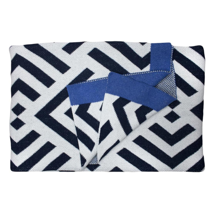 Zadar Throw Blanket - Indigo