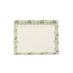 Garden Herb Monthly To Do Desk Pad