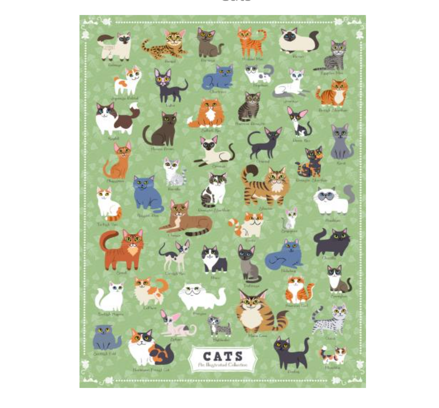 Illustrated Cats Puzzle - 500 Pieces